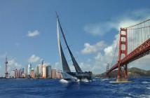 Maserati VOR70_Giovanni Soldini_San Francisco-Shanghai record_21 giorni_19 ore_32 minuti_54 secondi_