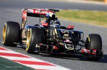 Romain Grosjean (FRA) Lotus F1 E23. Formula One Testing, Day 3, Saturday 28th February 2015. Barcelona, Spain.
