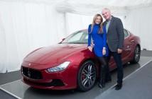 St. Moritz_02 Thomas Borer and his wife with Maserati Ghibli (Custom)