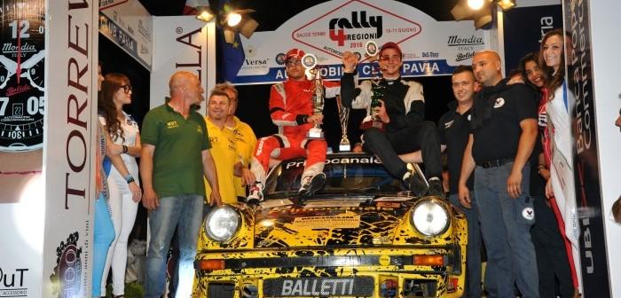 Rally 4 Regioni: Canzian re della notte, Musti domina, ma esce, Canzian vince