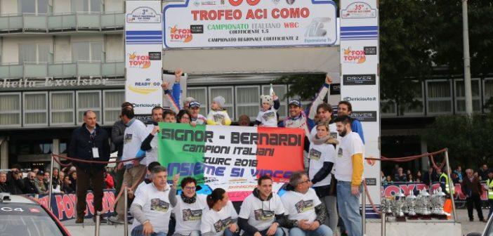 Marco Signor e Patrick Bernardi, Su Ford Focus WRC, si aggiudicano il Campionato Italiano WRC 2016