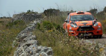 Simone Campedelli, Pietro Elia Ometto (Ford Fiesta R5 #3, Orange1 Racing)