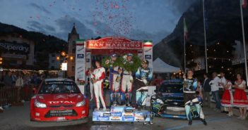 Podio: Marco Signor, Patrick Bernardi (Ford Fiesta WRC #2, Sama Racing A.S.D.), Luca Pedersoli, Anna Tomasi (Citroen C4 WRC #1), Simone Miele, Roberto Mometti (Ford Fiesta Wrc #5, Top Rally)