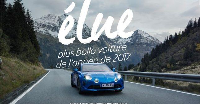 Alpine A110 premiata al Festival Automobile International