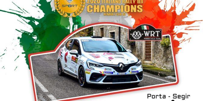 Winners Rally Team si veste di tricolore con Davide Porta